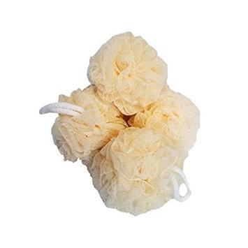 Bath Essentials Large Mesh Pouf, Sponge, Loofah 4 pack