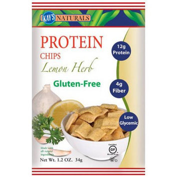 Kay's Naturals Gluten Free Lemon-Herb Protein Chips, 1.2 oz, (Pack of 6)