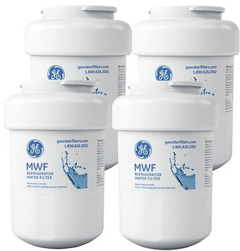 General Electric GE MWF Refrigerator Replacement Water Filter Cartridge 4 Pack