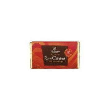 Lake Champlain Dark W/Jamaican Rum Caramel 3.25 Oz Bar (Pack of 10)