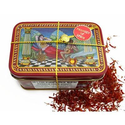 Spanish Coupe Quality Saffron Filaments 14 Gram Tin