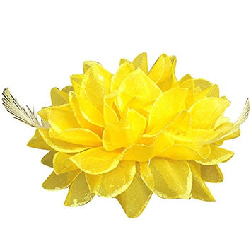 Bluelans Bridal Wedding Party Flower Headband Elastic Pin Hair Wrist Band Corsage Decor