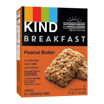 KIND Breakfast Bars, Peanut Butter, Gluten Free, Non GMO, 1.8oz, 24 Count [Peanut Butter]