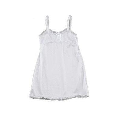 Girls' Empire Waist Full Slip - White 14