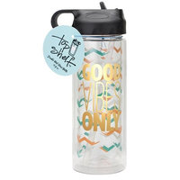 Good vibes only Glass Double Wall Water Bottle