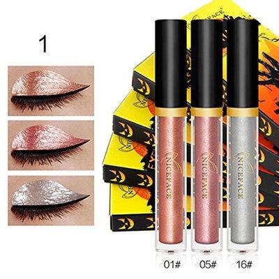 Alonea Metallic Smoky Eyeshadow Waterproof Glitter Liquid Eyeliner