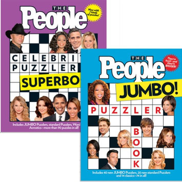 Johnson Smith Co People Magazine Celebrity Superbook And Jumbo Puzzler Books - Word Search +