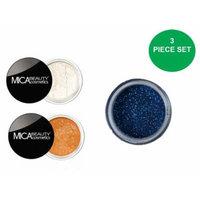 Micabeauty Eye Shadow #84 Brilliance+ #24 Tahiti+Glitter Powder G22 Deep Sea (Bundle of 3 Items)