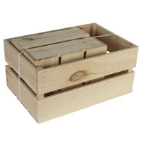 Walnut Hollow Rustic Crate Nested Set 2 Pieces-1 Small & 1 Large Crate