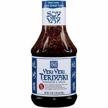 Soy Vay Veri Veri Teriyaki Marinade and Sauce, 21 Fluid Ounce -- 6 per case.