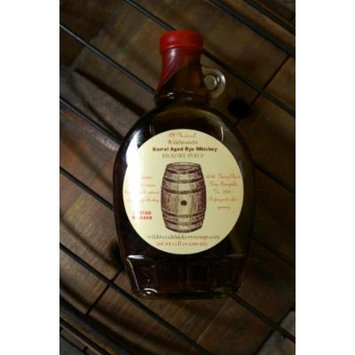 Wildwood's Rye Whiskey Hickory Syrup- 2 PACK (Hickory syrup infused with organic barrel aged rye whiskey - 12 oz per jar 2 pack(24oz. total)