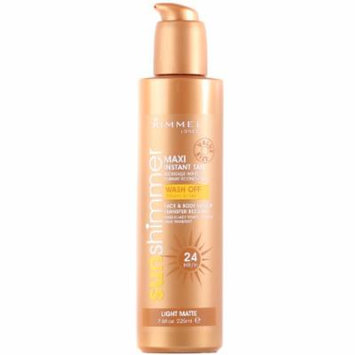 Rimmel London Sun Shimmer Maxi Instant Tan Face & Body Make Up Matte