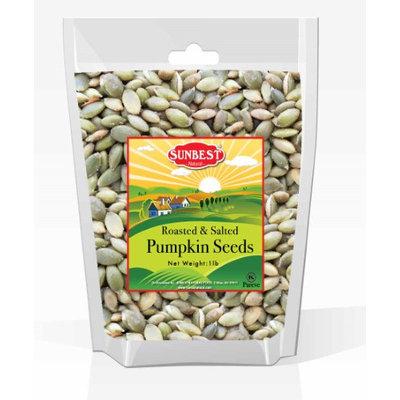 SUNBEST Sea Salted Pumpkin Seeds 1 Lb - Pepitas Roasted & Salted (No Shell), Pumpkin Seed Kernels (Dry Roasted Sea Salted, 16 Oz)