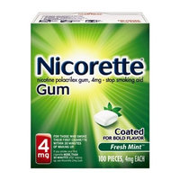 Nicorette Coated Gum 4mg, 100 pieces (Fresh Mint) Personal Healthcare / Health Care