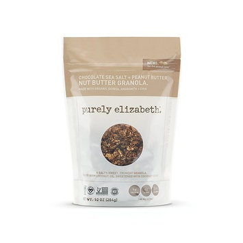 purely elizabeth Non GMO Organic Chocolate Sea Salt Peanut Butter Granola, 10 Ounce [Chocolate Sea Salt Peanut Butter Nut Butter]