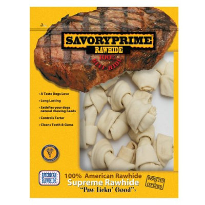 Savory Prime 3in Natural Rawhide Bones (991)