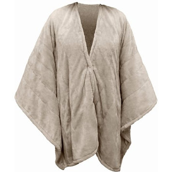 Perfect Fit Serta Heated Snuggler Wrap Throw