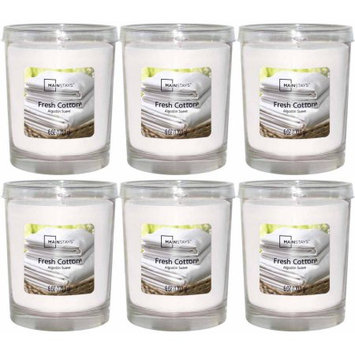 Mainstays 6 oz Fresh Cotton Jar, Set of 6