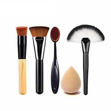 Engdash Professional Makeup Brushes Set Makeup Brushes Tool Kit Soft Makeup Brushes Set with Water Drop Shaped Sponge Puff