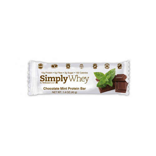Simply Choices Whey Bars - Chocolate Mint - 40 grm - Case of 12 - HSG-1235290
