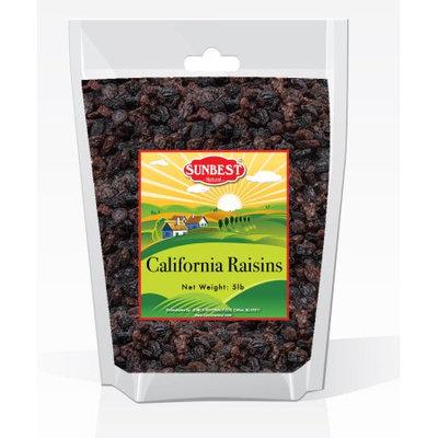 SUNBEST CALIFORNIA SEEDLESS RAISINS 5 LB IN RESEALABLE BAG, (80 Oz)
