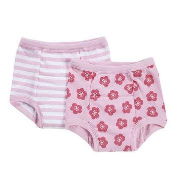 green sprouts Organic Training Underwear, Pink/Aqua, XL, 2 Count