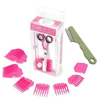 Scaredy Cut Silent Pet Clipper, PINK with Safari Flea Comb