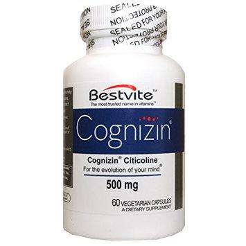 Bestvite Cognizin Citicoline 500mg (60 Vegetarian Capsules)