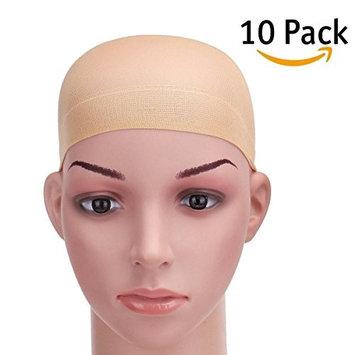 10 Pack Stocking Wig Caps Stretchy Nylon Elastic Skin Color Nude Beige Unisex