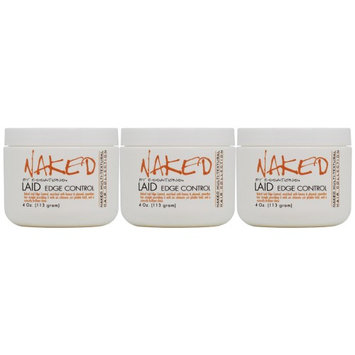 Naked By Essations Laid Edge Control 4oz 'Pack of 3'