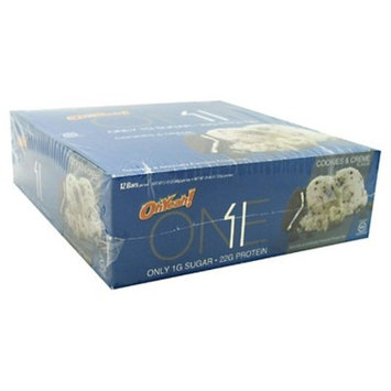 Oh Yeah ONE Bar Cookies & Cream Protein Bar - 12 Count