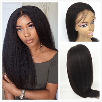 JYL Hair Italian Yaki 360 Lace Frontal Wig Pre Plucked Bleached Knots 150% Density Lace Front Human Hair Wigs For Women 360 Lace Wig Lace Front Wigs Human Hair with Baby Hair (22