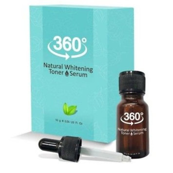 360 Natural Whitening Toner Serum Reduce Malasma Freckles & Dark Spots 10g. by jawnoy