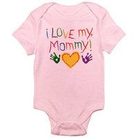 CafePress Baby I Luv Mom Infant Bodysuit