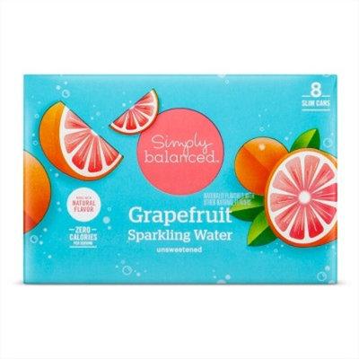 Grapefruit Sparkling Water -8pk/12 fl oz Cans - Simply Balanced™