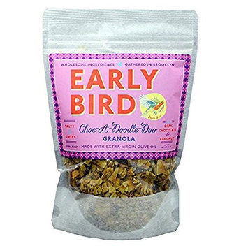 Early Bird Granola - Choc-a-Doodle-Doo - Granola with Dark Chocolate and Coconut 12 oz - Pack of 3 [Dark Chocolate and Coconut]