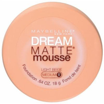 Maybelline New York Dream Matte Mousse Foundation, Light Beige, 0.64 Ounce (Pack of 2)