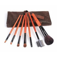 Set of 7 Professional Animal Wool Makeup Tools Soft Horsehair Brushes with Case