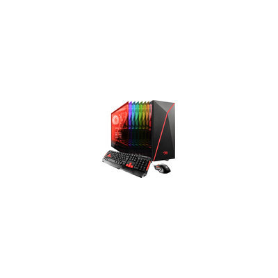 Ibuypower - Desktop - Intel Core I7 - 16GB Memory - Nvidia Geforce Gtx 1060 - 120GB Solid State Drive + 1TB Hard Drive - Black/red