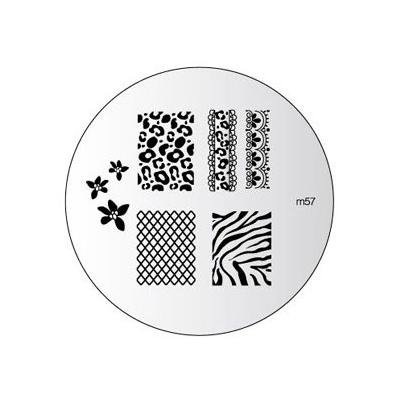 Konad 1 Image Plate Choose From List +2 Way Nail Stamper+scraper+clear Airplane Travel Cosmetic Bag (Bundle of 3 Items) (M57)