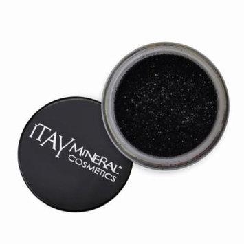 ITAY Mineral Cosmetics 1 Glitter Powder+Mica & Glitter Primer and Bond+Eye Shimmer Brush+ Clear Airplane Travel Cosmetic Bag (Bundle of 4 Items) (G15 Black Diamond)
