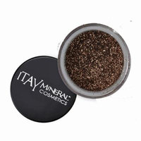 ITAY Mineral Cosmetics 1 Glitter Powder+Mica & Glitter Primer and Bond+Eye Shimmer Brush+ Clear Airplane Travel Cosmetic Bag (Bundle of 4 Items) (G21 Golden Brown)