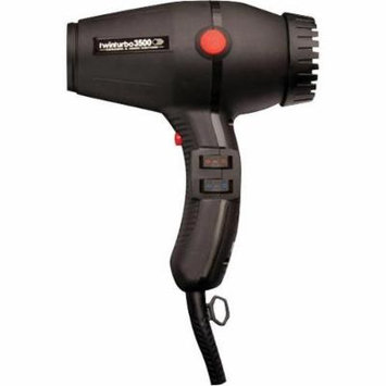 Twin Turbo ITALIAN Blow Dryer with Powerful K-Lamination Motor and Multi Temperatures/Speeds Settings, Instantaneous Cold Air Button and Stay Cool Thermoplastic Body