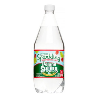 Poland Spring Sparkling Natural Spring Water, Raspberry Lime, 33.8 Fl Oz (Pack of 12)