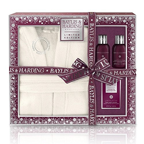 Baylis & Harding Midnight Fig and Pomegranate Luxury Dressing Gown Set