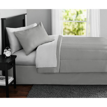 Mainstays Solid 8-Piece Bed in a Bag Bedding Set