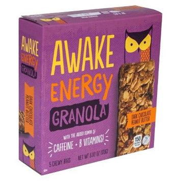 Awake Dark Chocolate Peanut Butter Energy Granola Bar 6 oz