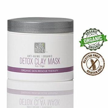 BEST ORGANIC Facial Clay Mask - Pulls Out Toxins and Helping to Shrink Pores Making Your Skin Appear Smoother and Healthier - Helps With Acne Rosacea Eczema and Psoriasis. Perfect For All Skin Types.