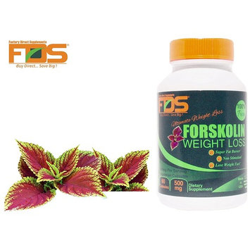 FDS New Forskolin Super All Natural 100% Pure Max Strength Weight Loss Forskolin Rapid Weight Veggie Supplement, 500 Mg 60 Veg Capsules Pure Appetite Suppressant