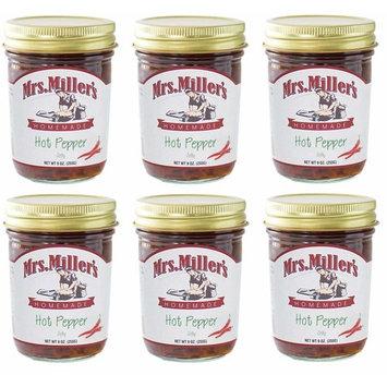 Mrs. Miller's Homemade Jelly, Hot Pepper, 9 OZ (Pack of 6)